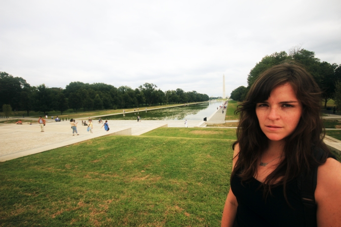sarah at lincoln memorial